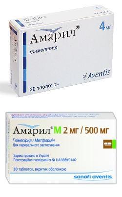 Амарил и Амарил М – инструкция по применению,  цены и отзывы