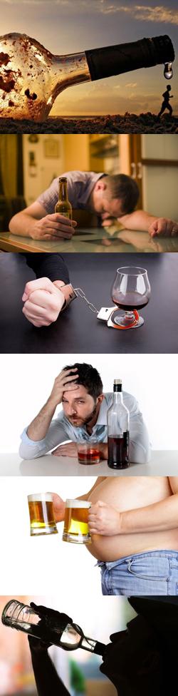 Три стадии развития хронического алкоголизма