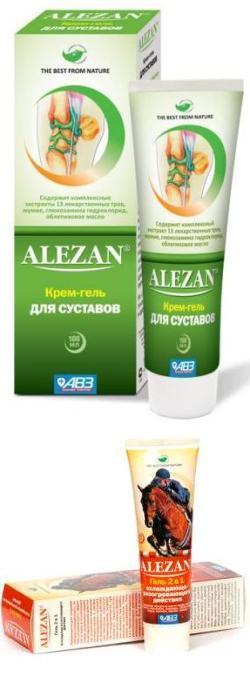 Применение крема и геля Алезан для лечения суставов