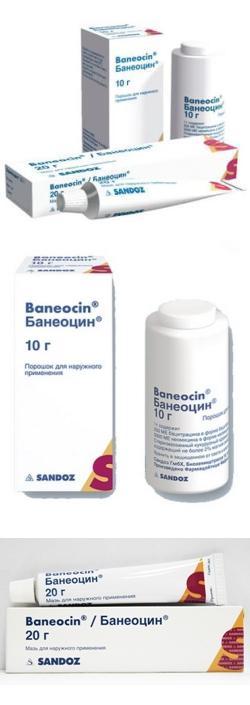 Банеоцин (порошок, мазь) инструкция по применению, аналоги.