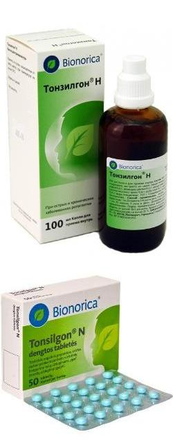 лекарство тонзилгон н инструкция по применению