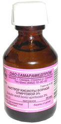 Водный раствор борной кислоты применение