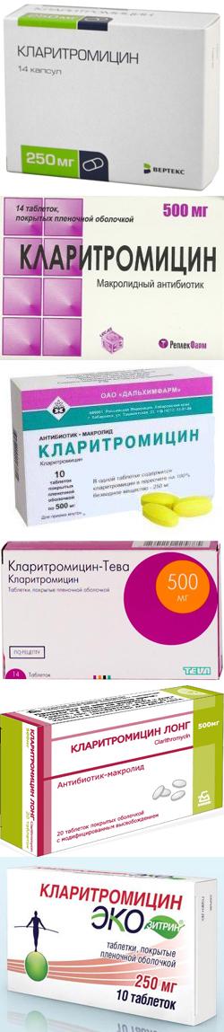 Кларитромицин группа антибиотиков - Антибиотики