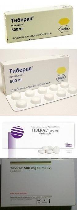 Таблетки Тиберал - инструкция