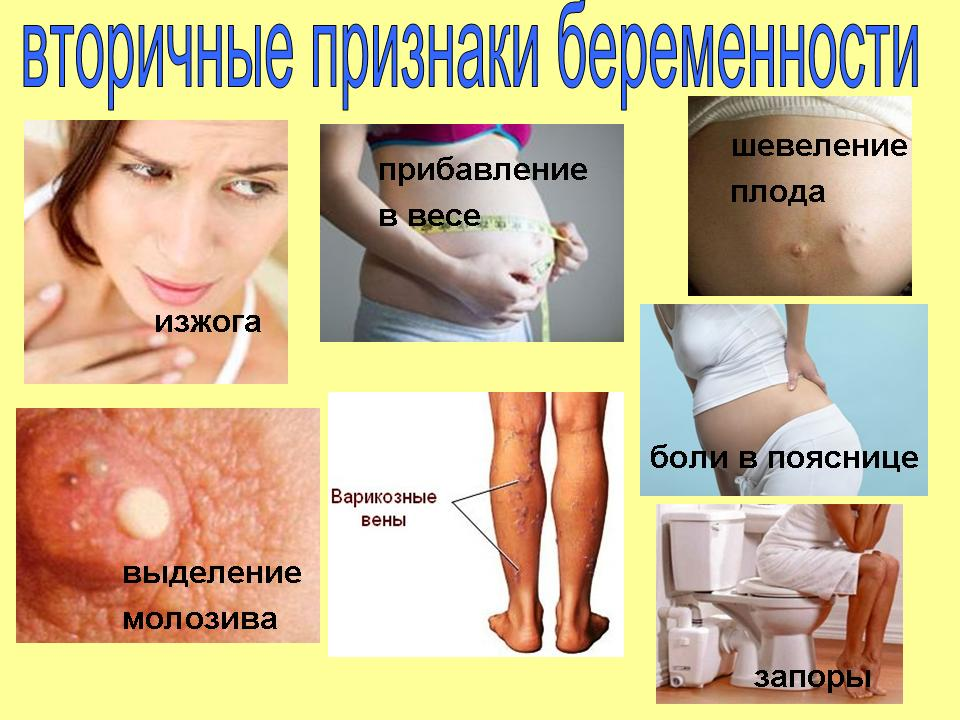 Симптомы беременности месяц